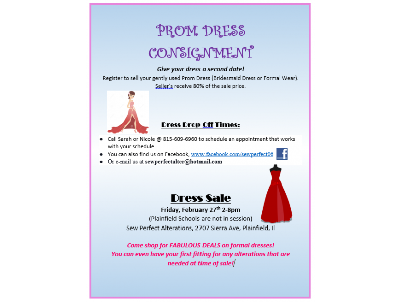 Prom Dress Consignment Sale Plainfield Il Patch
