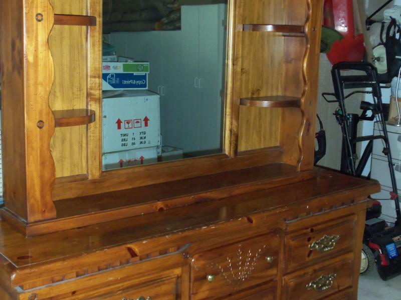 Dresser Mirror Hutch Nightstand For
