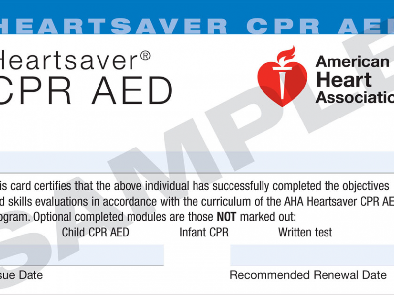 Heartsaver CPR/AED Certification near Roseville | Rosemont, CA Patch