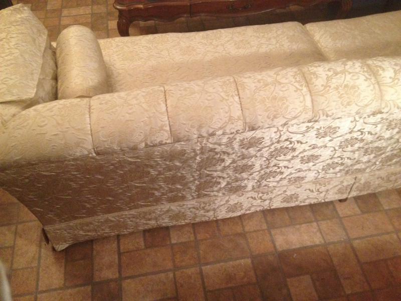 vintage brocade sofa custom made circa 1968 decatur ga patch. Black Bedroom Furniture Sets. Home Design Ideas