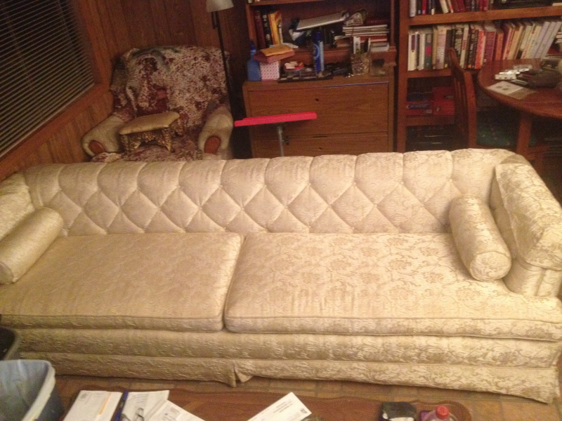 Custom Made Vintage Brocade Sofa Circa 1968 0