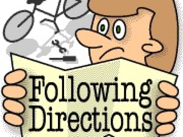 It Is Said That Following The Directions In