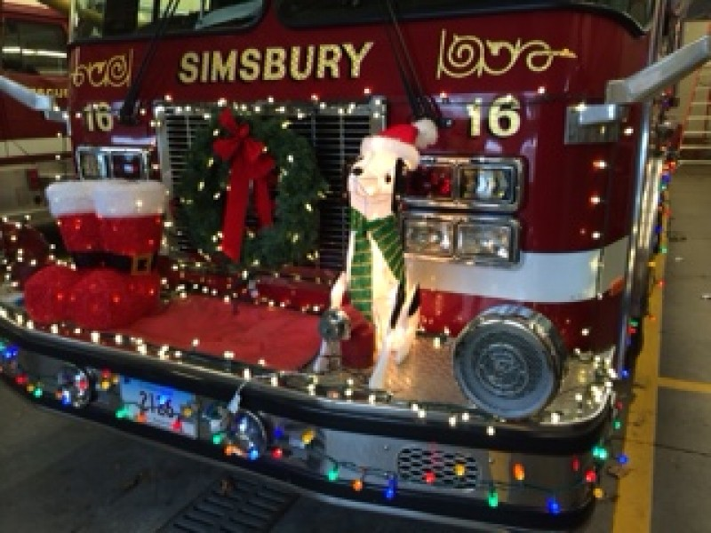 Simsbury Fire Trucks Decorated For Fire Truck Parade Simsbury Ct
