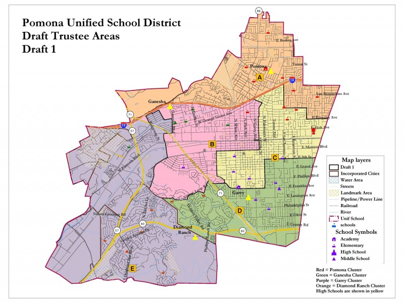 county oks pomona unified shift to five trustee voting areas from