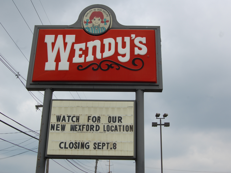 Closed For Good Wendy S On Route 19 In Wexford Flats