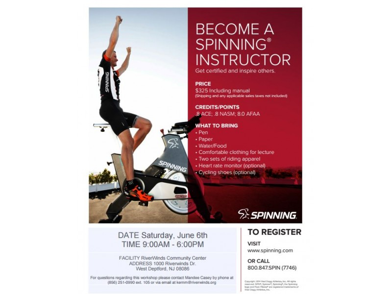 Spinning Instructor Training at RiverWinds | West Deptford, NJ Patch