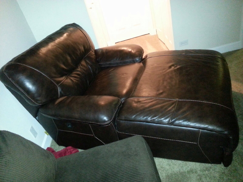 Large Brown Leather Chaise Lounge $500 | Plainfield, IL Patch