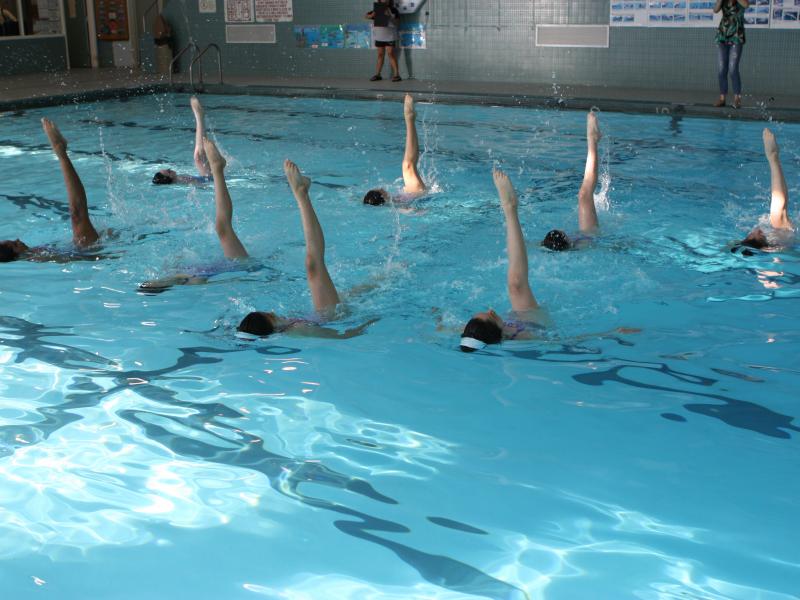 Gotham Synchronized Swim Team Tryouts And Demonstration Bronxville Ny Patch