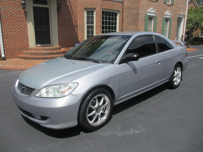 Car For Sale: Silver 2005 Honda Civic LX Coupe 5 Speed
