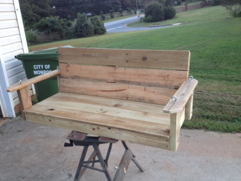 Homemade porch swing monroe ga patch for How to make an outdoor swing