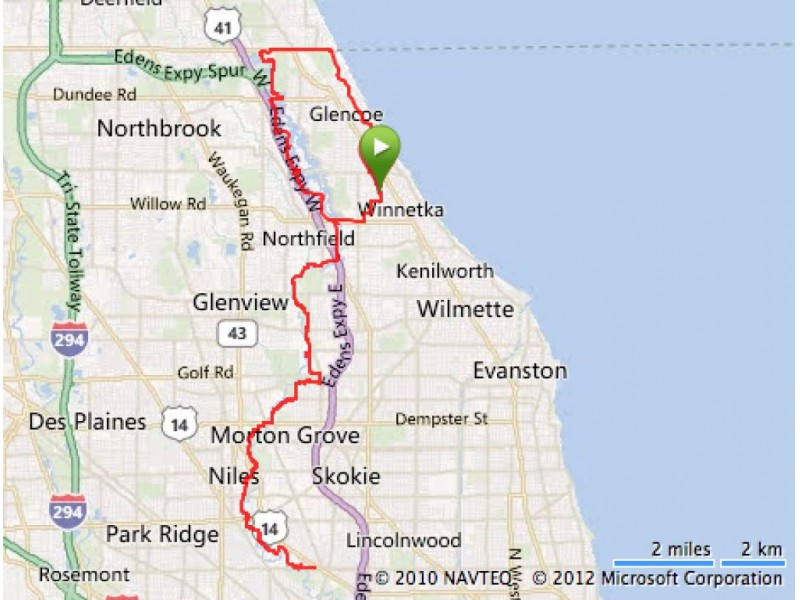 Suggested Bike Routes for the North Shore Winnetka IL Patch