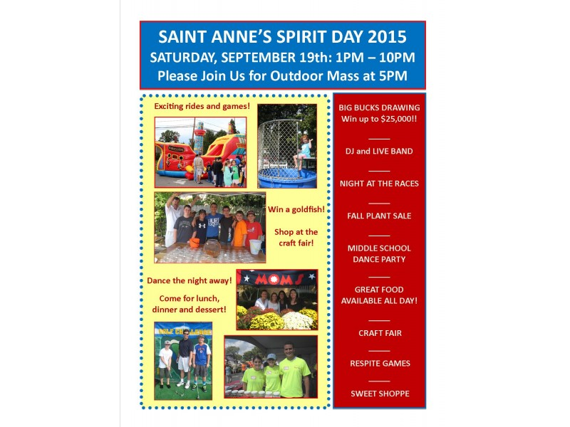 St Anne 39 S Spirit Day Save The Date September 19 2015 Garden City Ny Patch