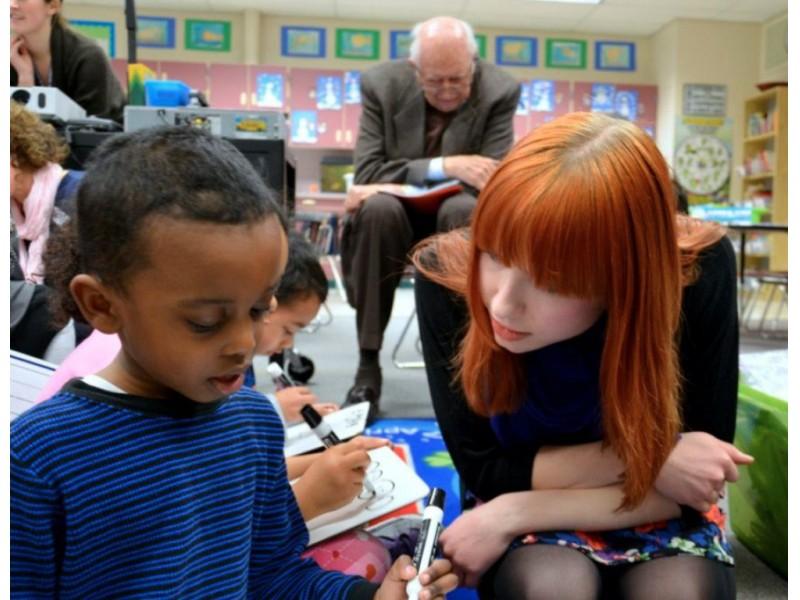 ... Bill Gates Sr. visits Lakeridge Elementary School-0 ...