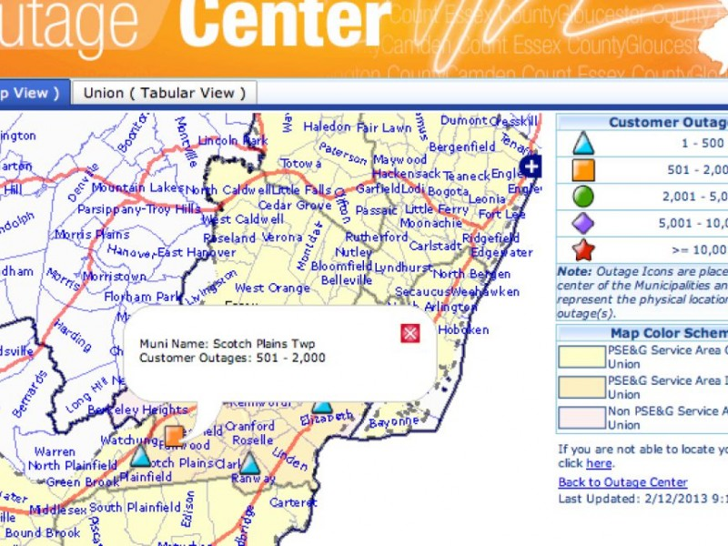 Update: PSE&G Outage Map Reporting Power is Restored | Scotch