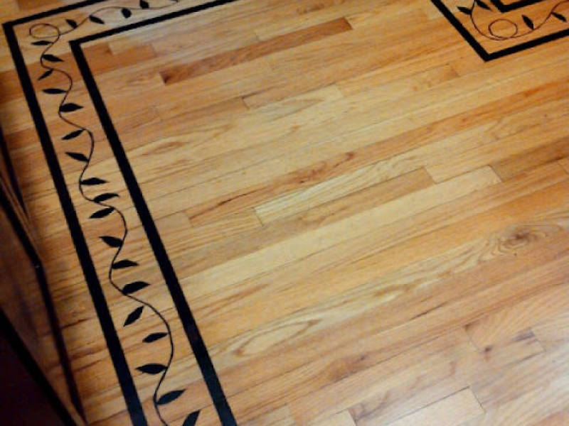 - Hand Stained Faux Inlay On A Wood Floor - Darien, IL Patch