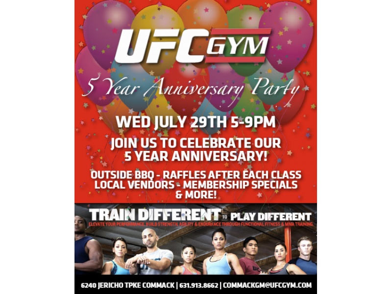 Ufc gym 5 year anniversary party commack ny patch ufc gym 5 year anniversary party stopboris