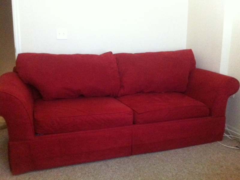 Beautiful Red Suede Sofa   Steal For You