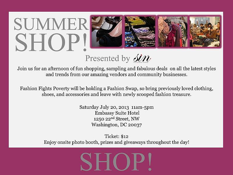 summer Shop 2013 Presented by Style & Image Network