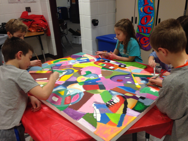 Over 600 Lakeview Kids Paint Murals On Canvas Lakeville