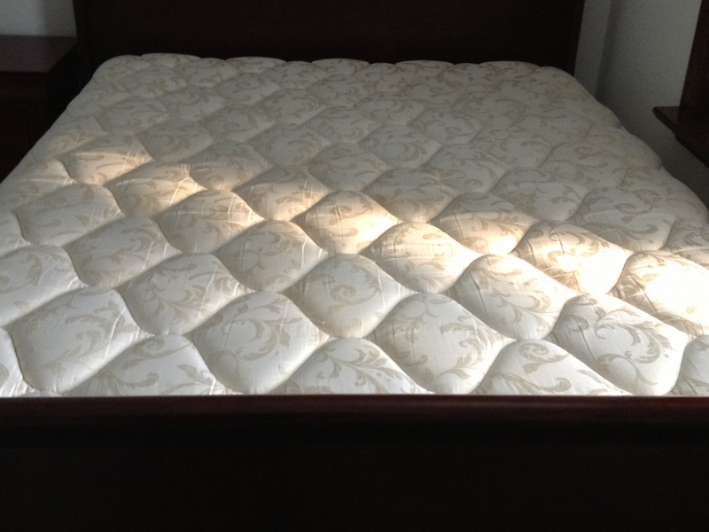 used queen mattress. $350 - Cherry Wood Sleigh Bed (Queen) With Mattress \u0026 Box Spring |  Sewickley, PA Patch Used Queen Mattress