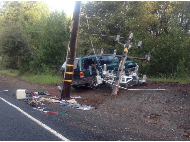 UPDATED Injury Accident In Pinole Knocked Out Power Line
