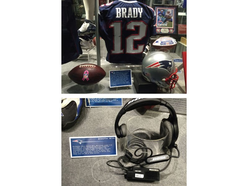 best authentic ddc76 fa397 The Hall at Patriot Place Displays Artifacts from Brady ...