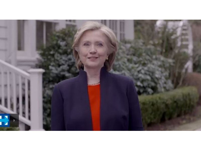 hillary clinton announces she is running for president bedford ny
