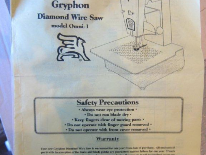 Gryphon Diamond Wire Saw Model Omni 1 | San Marino, CA Patch
