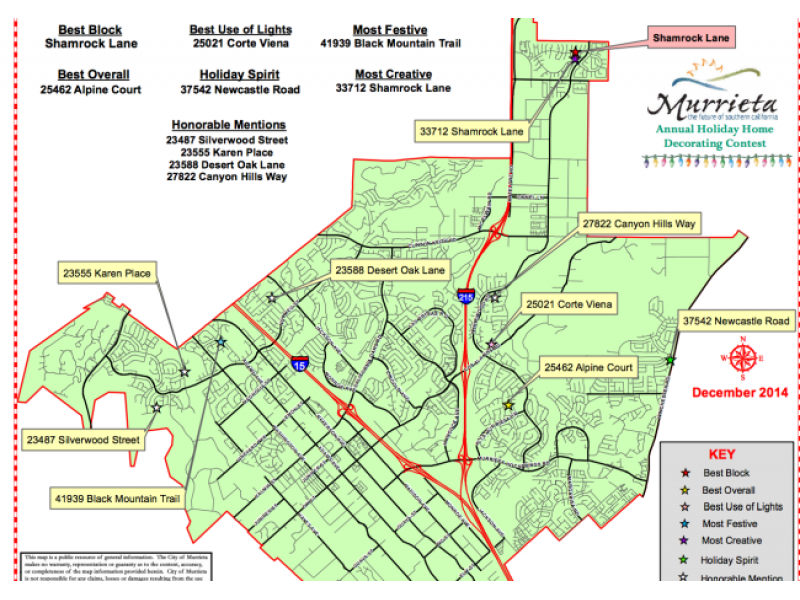 Murrieta Ca Map Map of Christmas Lights in Murrieta 2014 | Temecula, CA Patch Murrieta Ca Map