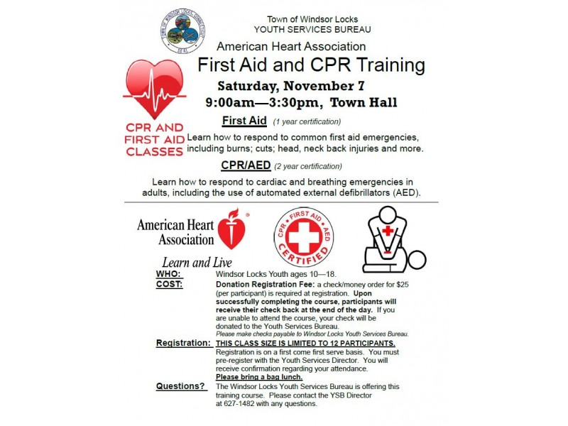First Aid Aed Cpr Class Windsor Locks Ct Patch