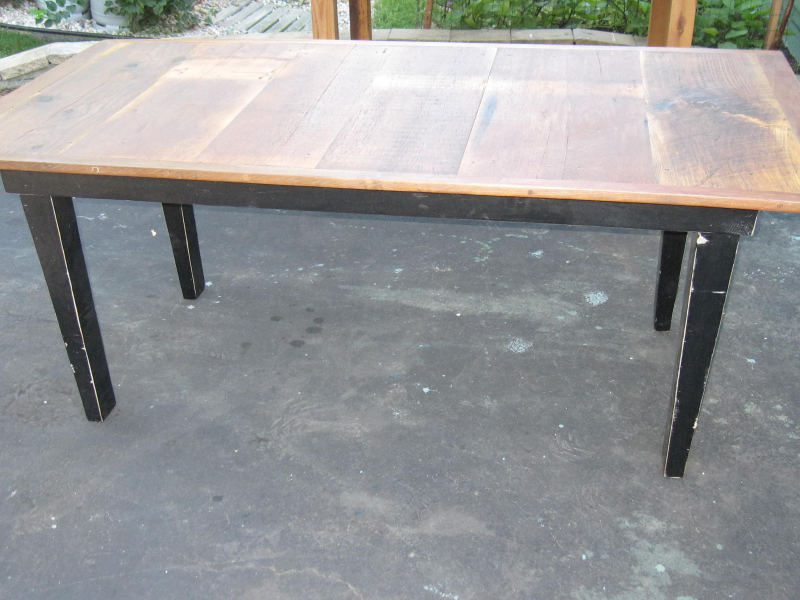 Sample Handmade Farm Table