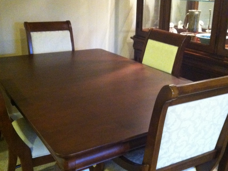 For Sale Solid Maple Kincaid Formal Dining Room Set 6 Chairs 2