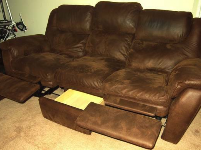 Selling My Sofa (Reclining)  Brown Microfiber | Odenton, MD Patch