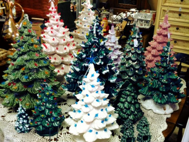 vintage ceramic christmas trees today 0