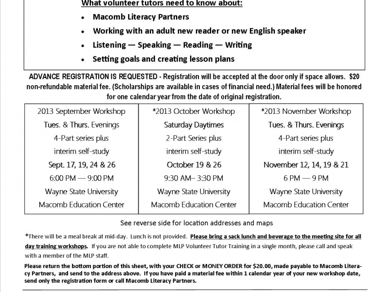 Volunteer to be a Literacy Tutor at your Library | Shelby, MI Patch