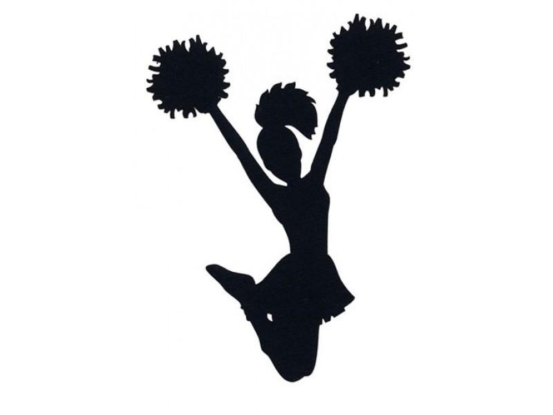 stevenson high school cheer and pom youth clinic buffalo Cheerleader Clip Art Black and White football cheerleader clipart