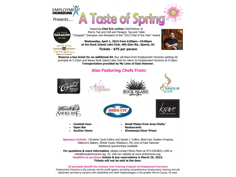 Join Employment Horizons On April 1 For A Taste Of Spring