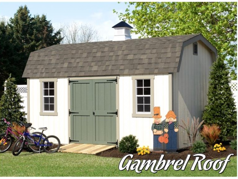 Selecting a shed roof for your storage shed gable vs for Gambrel gable