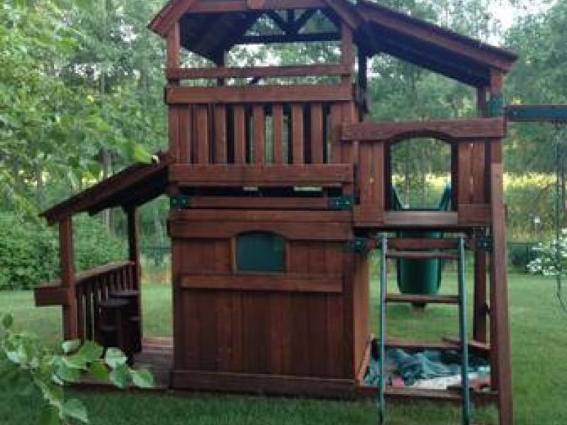 Backyard Adventures Fort, Swing, Play Set