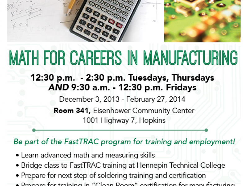 Math For Manufacturing Start A New Career Hopkins Mn Patch