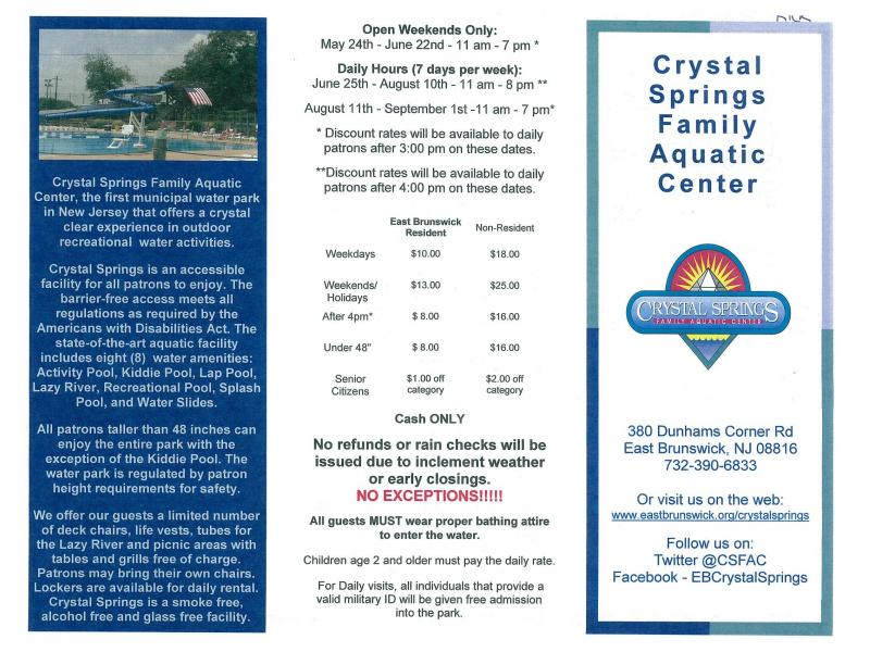 crystal springs registration