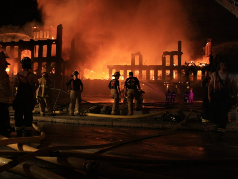 Woonsocket Mill Engulfed In Flames | East Providence, RI Patch