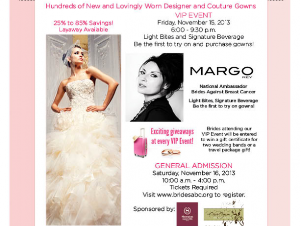 Brides Against Breast Cancer Charity Wedding Gown Sale Bridal Show