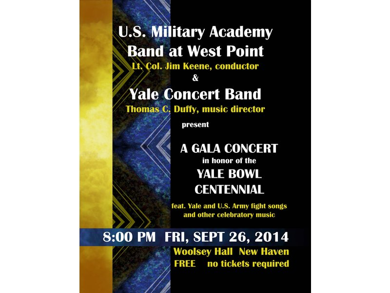 West Point Band and Yale Concert Band Gala Concert to Commemorate
