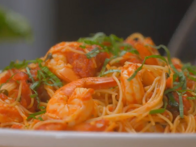 [VIDEO] 15-Minute Meal: Angel Hair Pasta with Shrimp Recipe