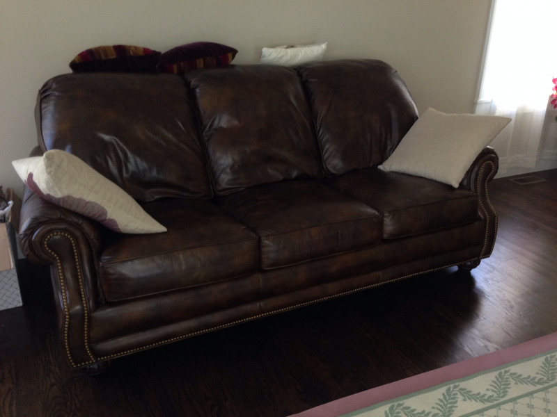 ... Brown Leather Hancock And Moore Sofa Couch For Sale   $3000 0 ...