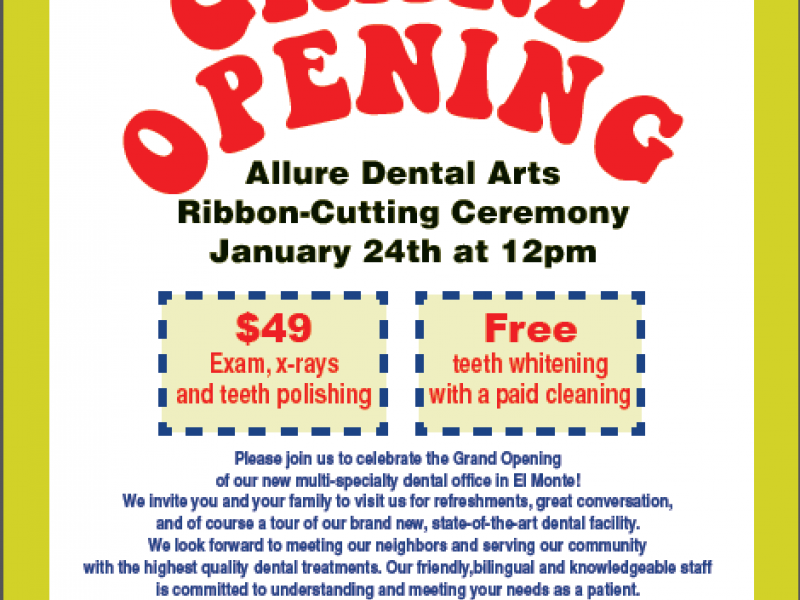 Allure Dental Arts Grand Opening Altadena Ca Patch