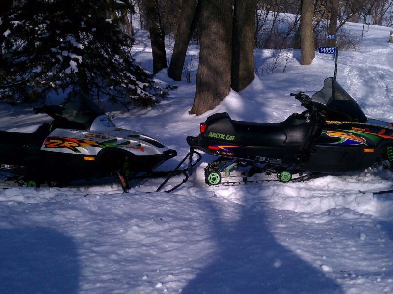 Arctic Cat Snowmobiles 2 And Sled Bed Trailer For Sale