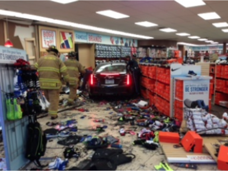 Police Charge Man, 84, Who Drove Into Famous Footwear