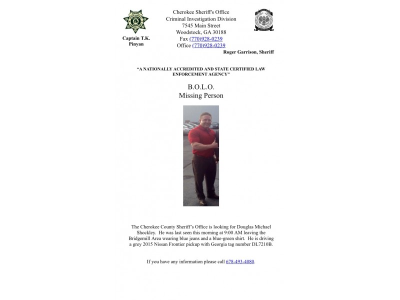 Sheriff S Deputies Search For Missing Cherokee Man Canton Ga Patch